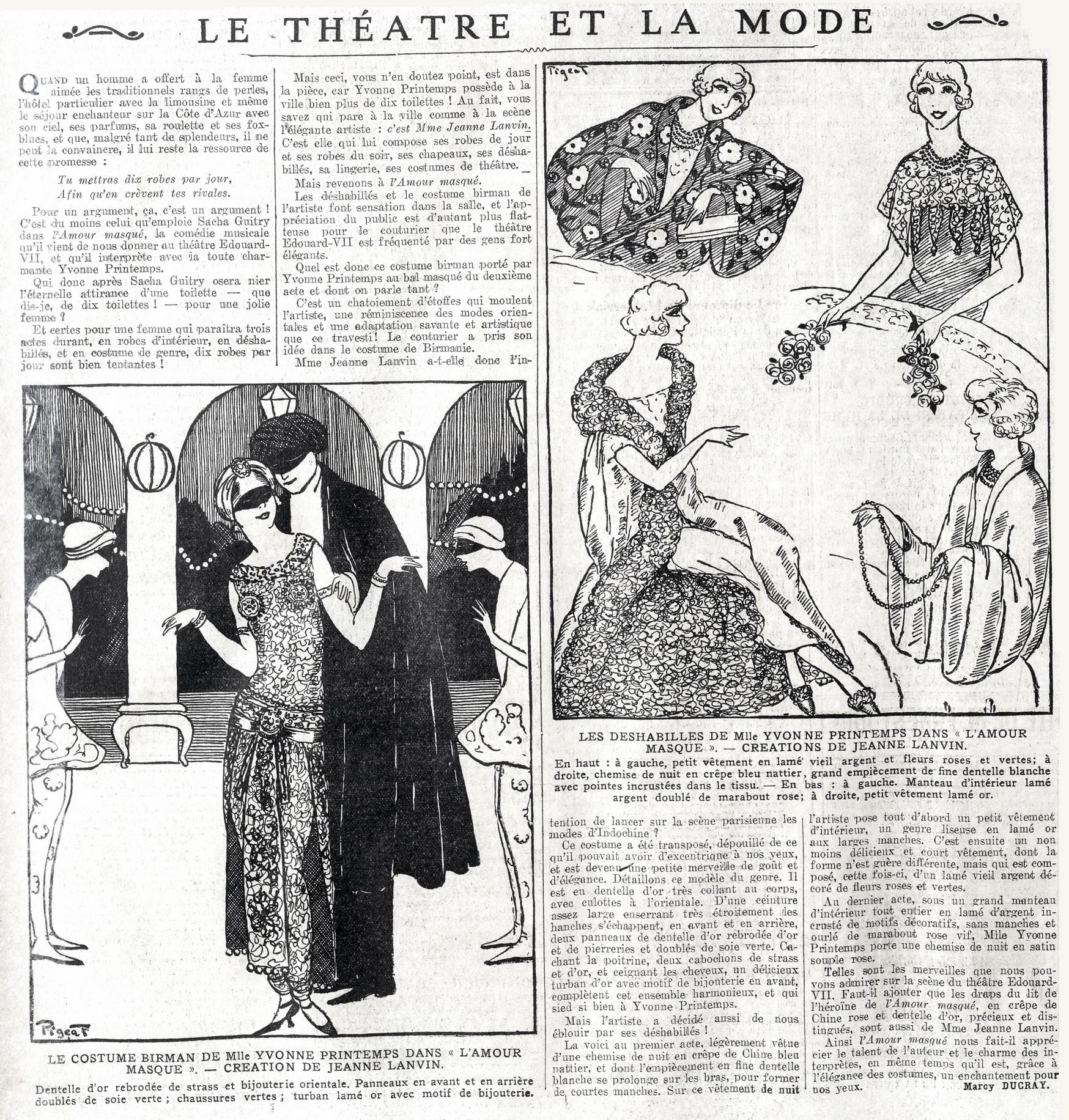 Ecmf 1918 1944 L Amour Masque Comedie Musicale En 3 Actes
