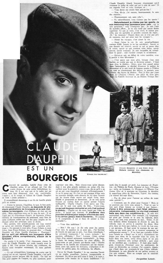 ECMF (1918-1944) - Interprète : M  DAUPHIN (Claude)